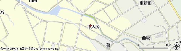愛知県田原市神戸町(下大尻)周辺の地図