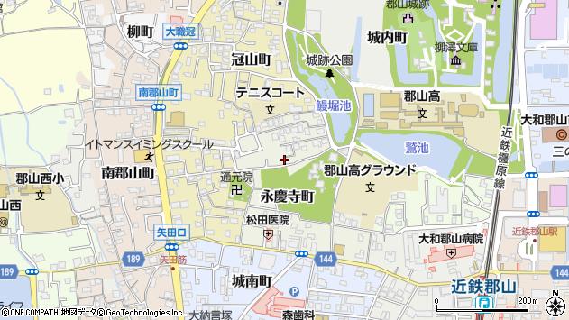 〒639-1019 奈良県大和郡山市永慶寺町の地図