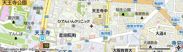 大阪府大阪市天王寺区北河堀町周辺の地図