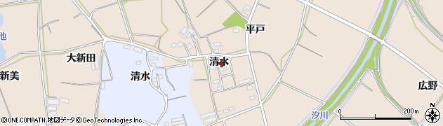 愛知県田原市西神戸町(清水)周辺の地図