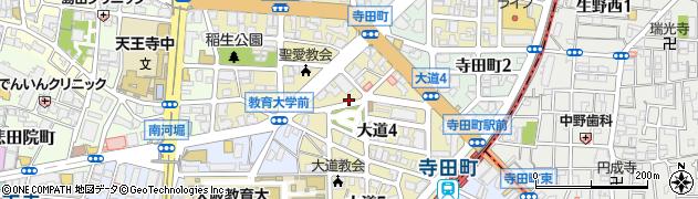 大阪府大阪市天王寺区大道周辺の地図