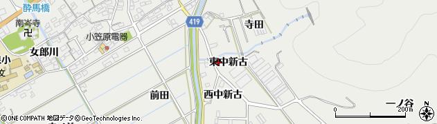 愛知県田原市江比間町(東中新古)周辺の地図