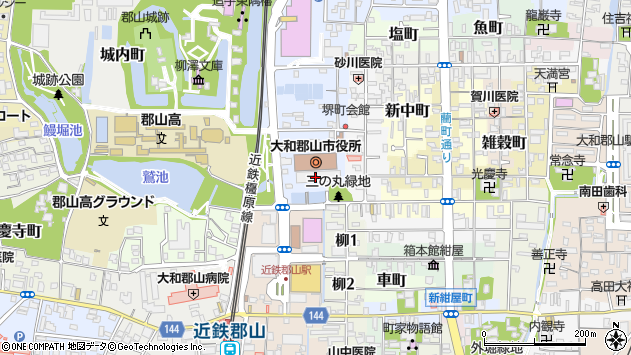 〒639-1100 奈良県大和郡山市(以下に掲載がない場合)の地図
