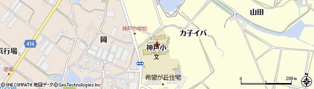 愛知県田原市神戸町(殿畑)周辺の地図