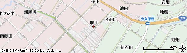 愛知県田原市野田町(吹上)周辺の地図