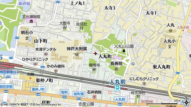 〒673-0877 兵庫県明石市人丸町の地図
