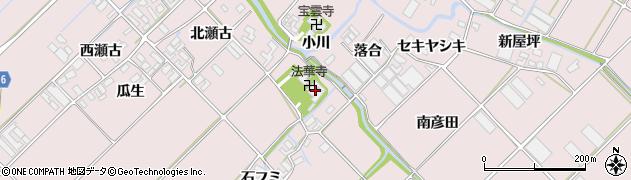 愛知県田原市野田町(柳橋)周辺の地図