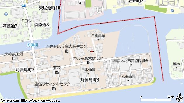〒653-0033 兵庫県神戸市長田区苅藻島町の地図