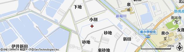 愛知県田原市伊川津町(小割)周辺の地図