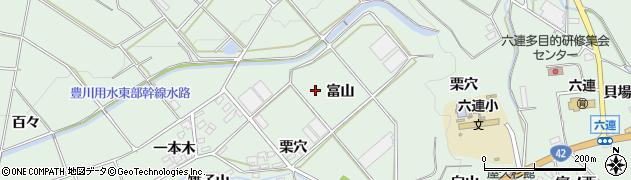 愛知県田原市六連町(富山)周辺の地図