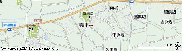 愛知県田原市六連町(境川)周辺の地図