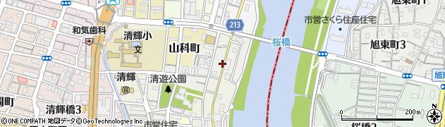 岡山県岡山市北区船頭町周辺の地図
