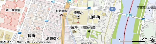 岡山県岡山市北区新道周辺の地図
