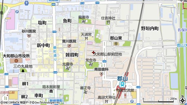 〒639-1153 奈良県大和郡山市西野垣内町の地図
