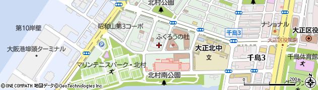 大阪府大阪市大正区北村周辺の地図