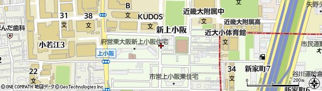 大阪府東大阪市新上小阪周辺の地図