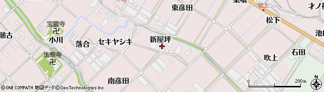 愛知県田原市野田町(新屋坪)周辺の地図
