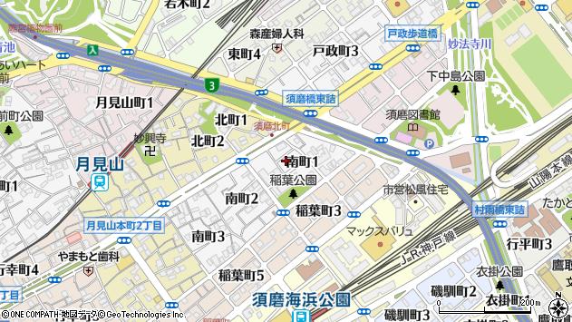 〒654-0036 兵庫県神戸市須磨区南町の地図