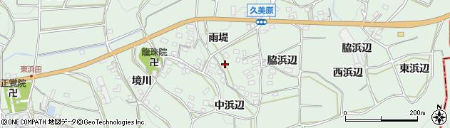 愛知県田原市六連町(雨堤)周辺の地図