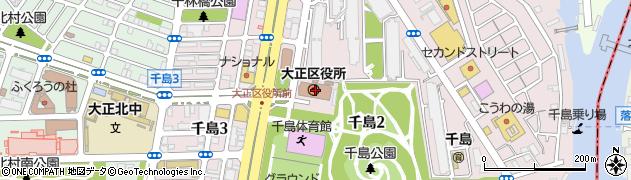 大阪府大阪市大正区周辺の地図