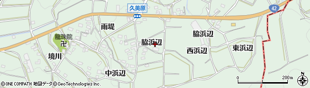 愛知県田原市六連町(脇浜辺)周辺の地図