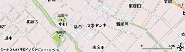 愛知県田原市野田町(セキヤシキ)周辺の地図