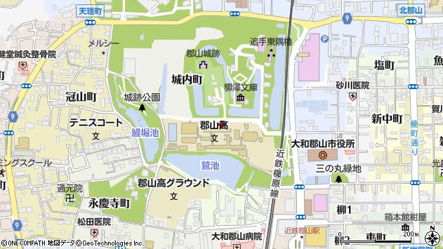 〒639-1011 奈良県大和郡山市城内町の地図