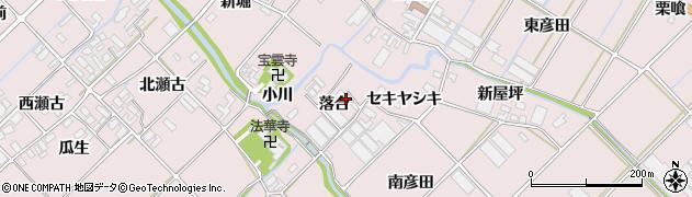 愛知県田原市野田町(落合)周辺の地図