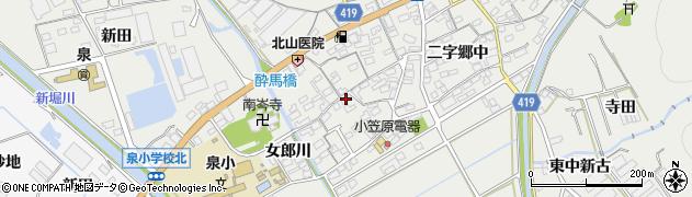 愛知県田原市江比間町(三字郷中)周辺の地図