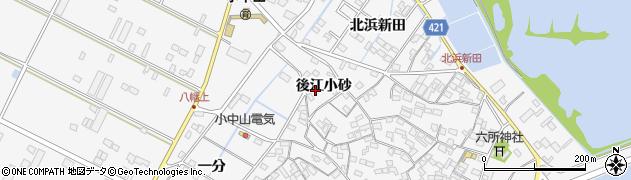 愛知県田原市小中山町(後江小砂)周辺の地図