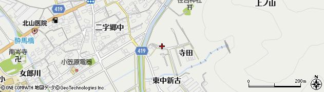 愛知県田原市江比間町(寺田)周辺の地図