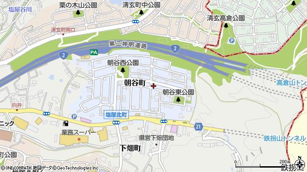 〒655-0862 兵庫県神戸市垂水区朝谷町の地図