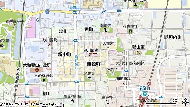 〒639-1150 奈良県大和郡山市雑穀町の地図