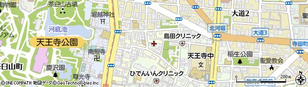 大阪府大阪市天王寺区堀越町周辺の地図
