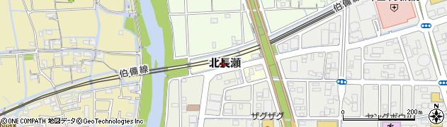 岡山県岡山市北区北長瀬周辺の地図