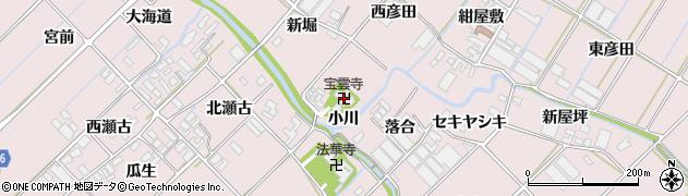 愛知県田原市野田町(小川)周辺の地図