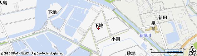 愛知県田原市伊川津町(下地)周辺の地図