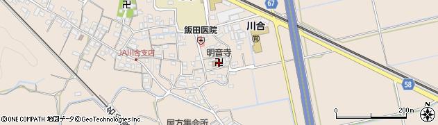 明音寺周辺の地図