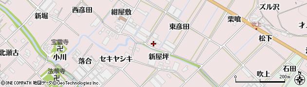 愛知県田原市野田町(東彦田)周辺の地図