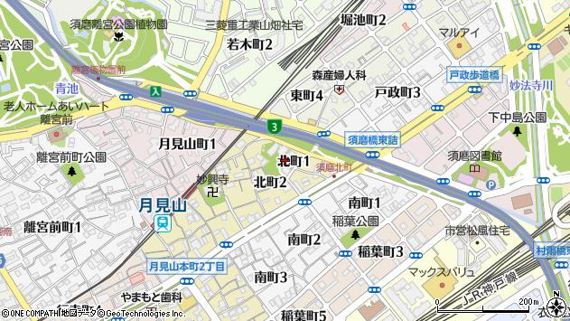 〒654-0064 兵庫県神戸市須磨区北町の地図