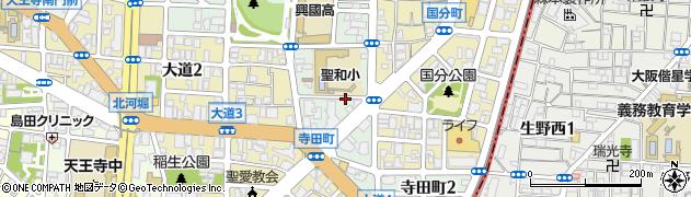 大阪府大阪市天王寺区寺田町周辺の地図