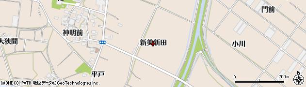 愛知県田原市西神戸町(新美新田)周辺の地図