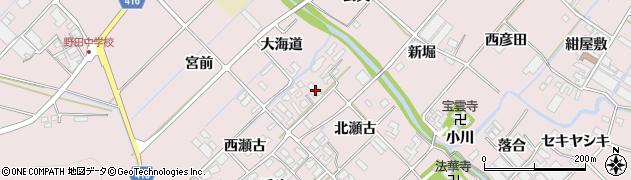 愛知県田原市野田町(北瀬古)周辺の地図