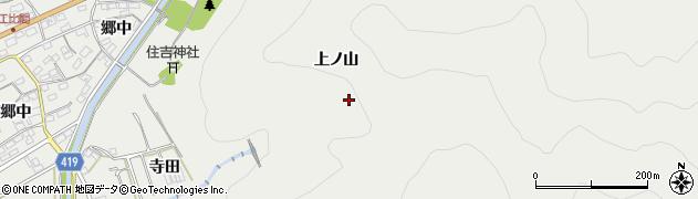 愛知県田原市江比間町(上ノ山)周辺の地図