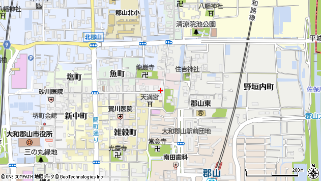 〒639-1167 奈良県大和郡山市南鍛冶町の地図