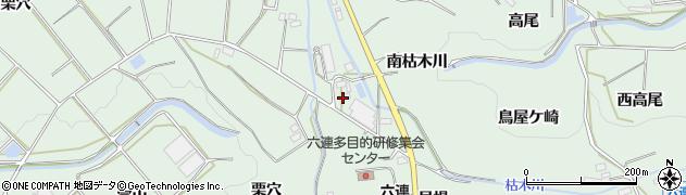 愛知県田原市六連町(西ノ川)周辺の地図