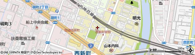 権現荘周辺の地図