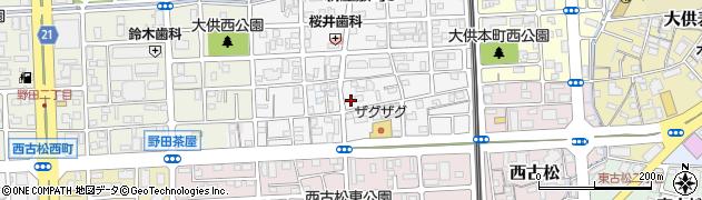岡山県岡山市北区西之町周辺の地図