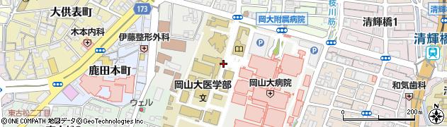 岡山県岡山市北区鹿田町周辺の地図