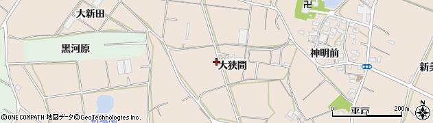 愛知県田原市西神戸町(大狭間)周辺の地図